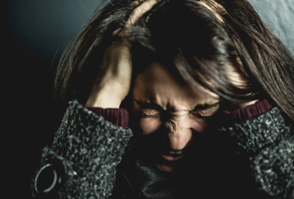 Woman in anguish